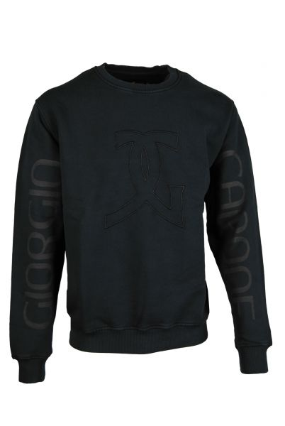 Premium heavyweight Sweater, Giorgio Capone, anthrazit dunkel, 100% Baumwolle